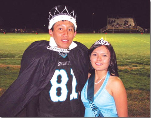 Greyhills Academy Homecoming King and Queen, Trent Nells and Charise Charley.