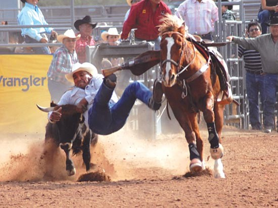 <i>Photo by Geri Hongeva</i><br> Benny Begay competed in the 2008 IIFR as a wildcard contestant from the Navajo Nation Fair and Rodeo.