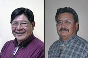 Navajo County Supervisors Percy Deal (left, District 1) and Jesse Thompson (District 2).