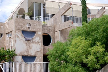 <b>Photo by Bruce Colbert</><br>Paolo Soleri's Arcosanti at Cordes Junction continues to draw visitors from all over the world