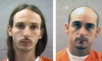 Police arrested Van Buren Melton, left, and Geoffrey Martindale, right, and charged them with various drug offenses.