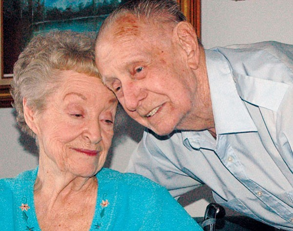 Ralph and Mimi Meixner are still very much in love after 71 years of marriage.<br>TribPhoto/Heidi Dahms Foster
