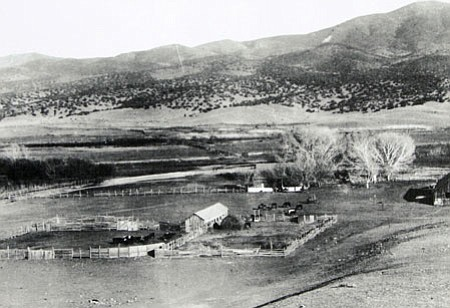 The King Woolsey homestead and outbuildings along the Agua Fria River in Dewey-Humboldt looked like this when the property sold to the Bower Brothers in 1868.<br> Courtesy photo