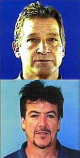 Joel Jay Glore and Ronald Michael Capito were taken into custody Thursday after a week of surveillance.