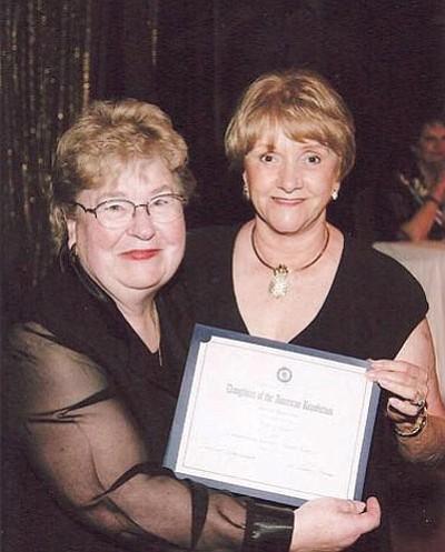 Faye McCoy awards Patsy Ray