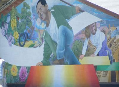Mural on Miller Valley Elementary School<br> Chris A. Porter