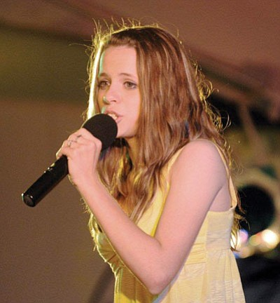 Drew Ryniewicz wowed judges to win the 2010 PV Idol competition on Friday during Prescott Valley Days.<br> Photo by Stew Schrauger/Courtesy PV Chamber of Commerce