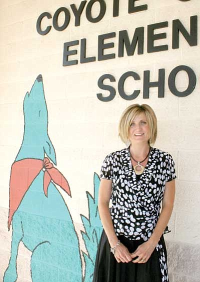 Candice Blakely said her experience as Asst. Principal at Glassford Hill Middle School will stand her in good stead this year at Coyote Springs.<br> TribPhoto/Sue Tone