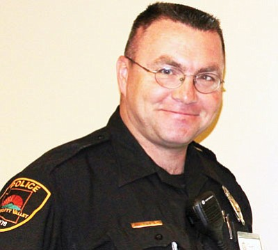Prescott Valley Police Officer James Tobin earns award for his committment to stem underage drinking and substance abuse among youths.<br> Courtesy Photo