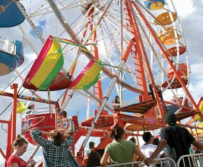 The same carnival that has been at the Yavapai County Fair for the past several years will return to the smaller version, and exhibits will focus on youth.<br> FilePhoto/Sue Tone