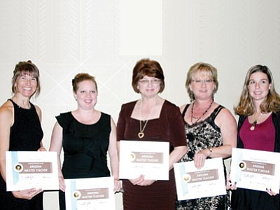 Five Humboldt Unified School District teachers earned their Arizona Master Teacher certificate through the Arizona K12 Center. Master Teachers often become mentors and leaders in their district. From left are Tanja Koster, Breesa Patrick, Pamela Clark, Diane Lerette, and Elizabeth Rushton.<br> Courtesy Photo