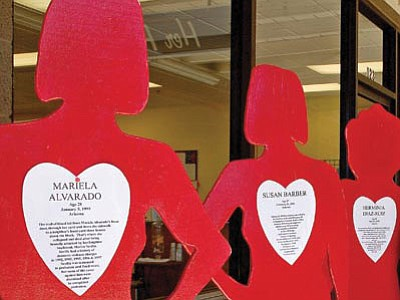 Life-size figures representing Arizona women who have died from domestic violence will be on display at the Take Back the Night candlelight vigil Oct. 24 in Prescott Valley.