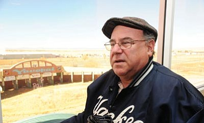 Potential owner Gary Miller inspects Yavapai Downs' buildings and grounds Dec. 10, 2012. Miller is president of the Arizona Horseman's Benevolent & Protective Association and has been involved in the horseracing industry for decades.<br> Photo courtesy Les Stukenberg