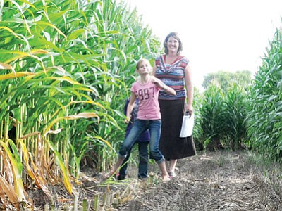 The Mortimer Farms Corn Maze is back this year, 15 acres and honoring the Granite Mountain Hotshots.