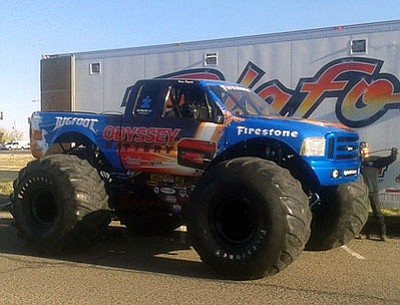 Bigfoot will be doing a car crush during Saturday's Salute to Heroes event at Tim's.<br> Photo courtesy Chris A. Porter