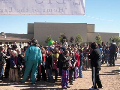 Liberty Traditional students participate in a Walk A Thon.<br> Courtesy photo