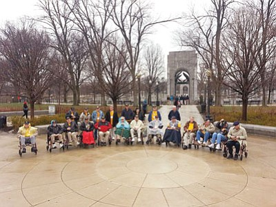 Courtesy photo<br> A group of World War II veterans, including a handful from the quad-cities, visited Washington D.C. with the Honor Flight Arizona organization.