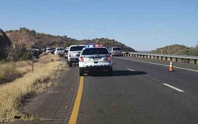 Southbound I-17 was reopened after being closed because of the May 16 fatal accident caused by a wrong-way driver. (Photo: Department of Public Safety)