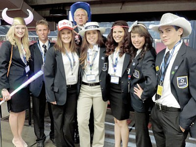 DECA members from Bradshaw Mountain High School pose at the International Competition Career Development Conference in Atlanta, Georgia, in March.<br> Courtesy Photo