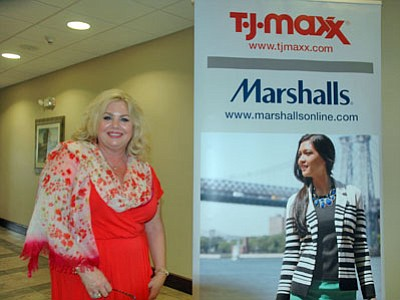 Store manager Cynthia Stanley poses in the new TJ Maxx in Prescott Valley. The store will open Sept. 21.<br> Trib Photo/Briana Lonas