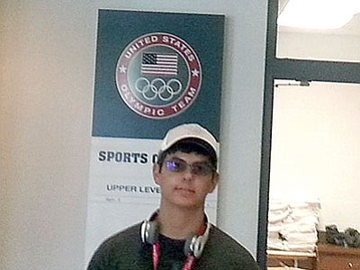 Joe Witty, 16, poses while at the Olympic Training Center.<br> Courtesy photo