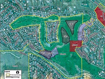 "A map shows proposed condo projecs that could be built within Parcels A, B and C in Prescott Valley.<br> Map courtesy of the Town of Prescott Valley<br><br> <a href=""http://prescottads.com/trib_pdf/TownOfPVCondoMap.pdf"" target=""_blank""><b>CLICK HERE TO ENLARGE</b></a>"