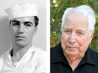 Peter Marshall in 1940 (left), and today (right).