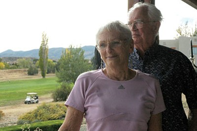 Bob and Margaret Darnell purchased their dream retirement home overlooking the golf course with a view of the Bradshaw Mountains. A proposed condominium development, slated to go before the Prescott Valley Planning and Zoning Commission, would block their views and, the Darnells say, decrease the value of their home.<br> Trib Photo/Briana Lonas