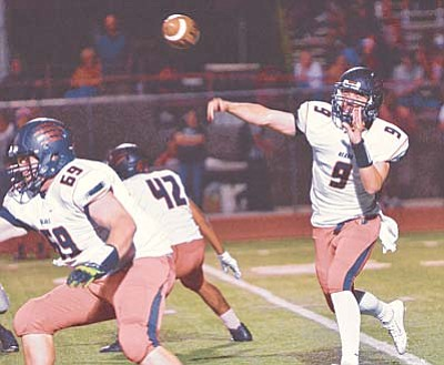 Courtesy of BMSH<br /><br /><!-- 1upcrlf2 -->Bradshaw Mountain quarterback Gunner Bundrick came up just short in leading a last-second comeback for the Bears' in their section opener at Mingus Union.