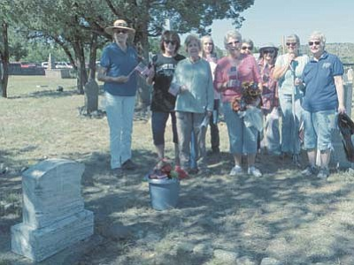 Courtesy Yavapai DAR <br /><br /><!-- 1upcrlf2 -->Pictured are from left to right:  Linda Shebek, Kathy Machmer, Lee Nelson, Sue Hubbard, Elaine Myers, Nancy Silacci, Patsy Silvey, Janet Winston, and Sue Burk.