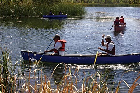 Do you want to experience the Verde River from a canoe? Guided canoe rides are being offered as part Verde River Days on Sunday, Sept. 28. Sponsored by the Verde River Citizens Alliance, the only cost will be the entrance fee to Dead Horse Ranch State Park. Trips will leave at 8 and 10 a.m. Reservations can be made by calling Marsha Foutz at 634-8738.  Photo by Dan Engler