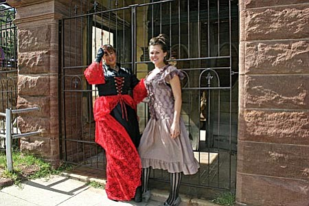 VVN/Philip Wright Period costumes from Jerome's past are worn by Christine Barag, left, and Annie Kelly. Both will be part of the Ghost Walk Oct. 11 in Jerome.