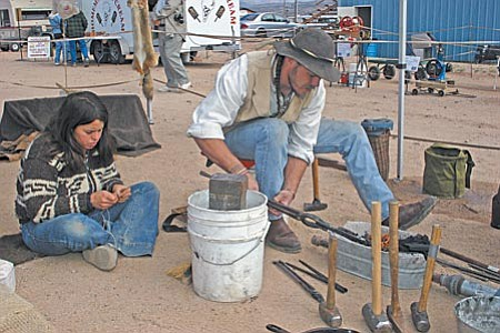 Those attending this weekend's 25th anniversary Arizona Flywheelers Show will get to see old-fashioned blacksmiths ply their craft.