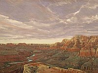 Derryl Day, in the Old Jerome High School Building B, is a master painter of the Grand Canyon and desert landscapes. Visit his studio during the July 3rd Jerome Art Walk.