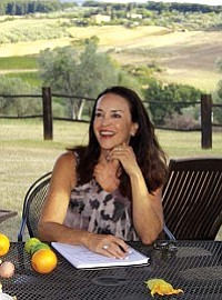 Courtesy image<br> Lisa Dahl, co-owner with Andrea Di Luca of Dahl & Di Luca Ristorante Italiano and Cucina Rustica, kept notes in long-hand during her Tuscan trip to create a unique cookbook.