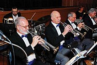 Sentimental Journey has been 16 pieces since its inception with saxophones, trumpets and trombones, as well as a vocalist and a rhythm section.