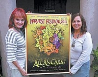Jewelry maker Candace Copeland (left) with Alcantara co-owner Barbara Predmore.