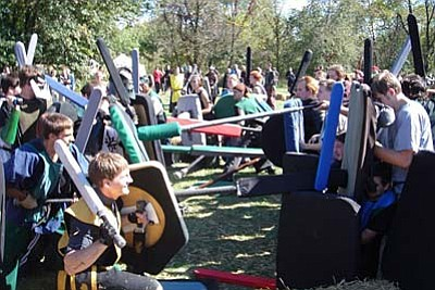 Every Sunday, 2 pm: Medieval combat simulation with padded weapons. Equipment building seminars available on request. Ages 14+ welcome. Part of the Belegarth Medieval Combat Society. Riverfront Park, Cottonwood. 928-254-8220, www.belegarth.com.