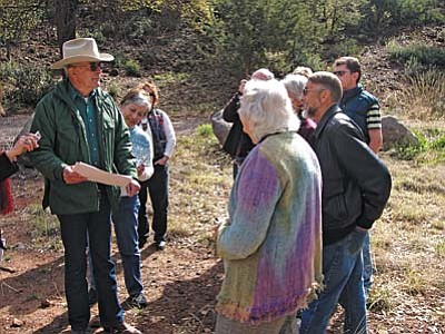 Paul Thompson gives a tour of the Thompson springhouse.