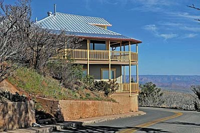 The Gillenwater house has the dubious reputation of being the closest home to a State Highway in all of Arizona. See this home for the first time ever during the 47th Annual Jerome Historic Home and Building Tour on May 19 and 20th.