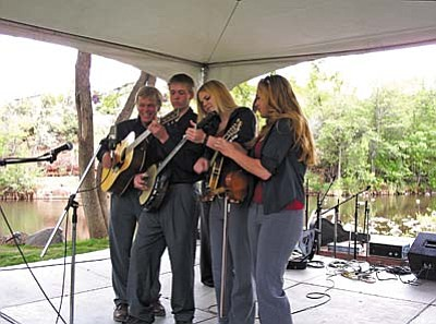The Burnett Family Band of the Sedona Bluegrass Festival performing at 7 p.m. during the opening reception.