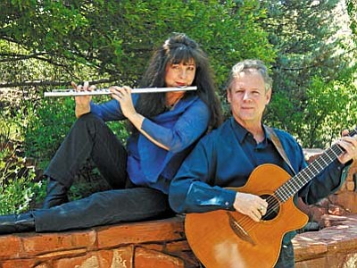 Lynn Trombetta and Rick Cyge perform as Meadwlark July 17 at Marketplace Cafe.