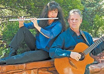 Sedona recording artists Rick Cyge and Lynn Trombetta who perform as Meadowlark.