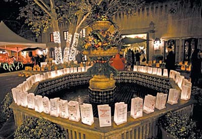 Remember loved ones lost to cancer or struggling with the disease by sponsoring a luminaria for $10 and inscribing a personal message if you wish. Luminarias are placed around the fountain at Patio del Norte. Proceeds support the American Cancer Society and luminarias can be purchased in advance for $10 by calling (928) 282-4838.
