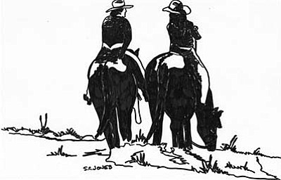 """Good Friends, Good Horses"" by Sue Jones."