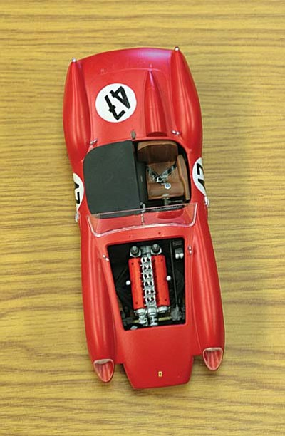 One of Paul Lewis's favorite models is his Ferrari 250TR (above). Lewis, a member of the Ernest A. Love Chapter of the International Plastic Model Society, will show how to make models at this year's Creator Faire, part of the 2014 Fort Verde Days. VVN/Bill Helm