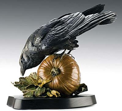"""Ravenous,"" bronze sculpture by Kim Kori"