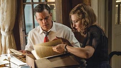 Matt Damon and Cate Blanchett star in The Monuments Men.