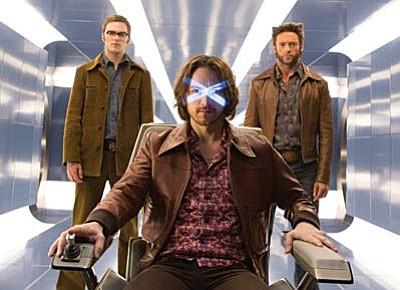 Twentieth Century Fox<br /><br /><!-- 1upcrlf2 -->Shawn Ashmore (from left); James McAvoy and Hugh Jackman in X-Men: Days of Future Past.