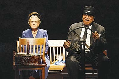 """Driving Miss Daisy"" tells the affecting story of the decades-long relationship between an elderly Southern Jewish woman (Angela Lansbury, above with Boyd Gaines), and her compassionate African-American chauffeur."